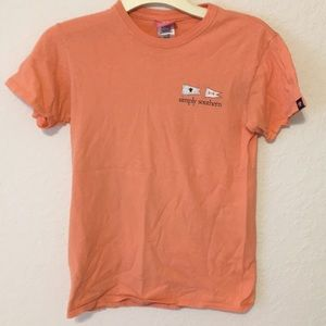 orange simply southern t shirt